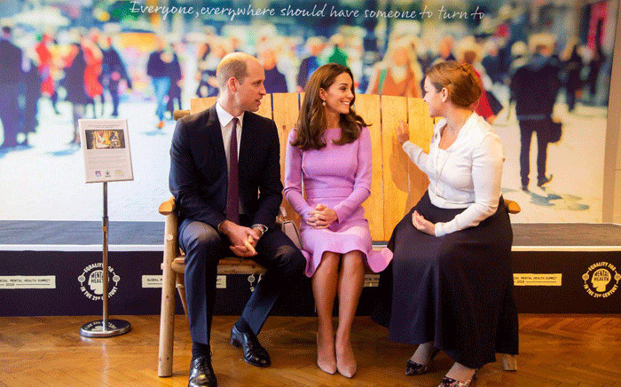 The Duke and Duchess end their visit to #GlobalMHSummit at the Friendship Bench. Picture:  @KensingtonRoyal/Twitter.