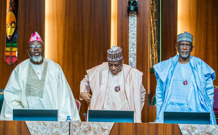 Members of Nigeria's Federal Executive Council. Picture: @AsoRock/Twitter