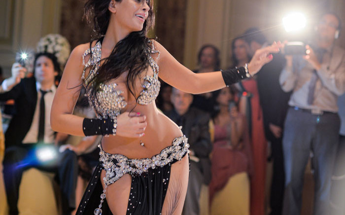 FILE: Moroccan belly dancer Maya Dbaich dances at a wedding in Egypt's capital Cairo. Picture: AFP