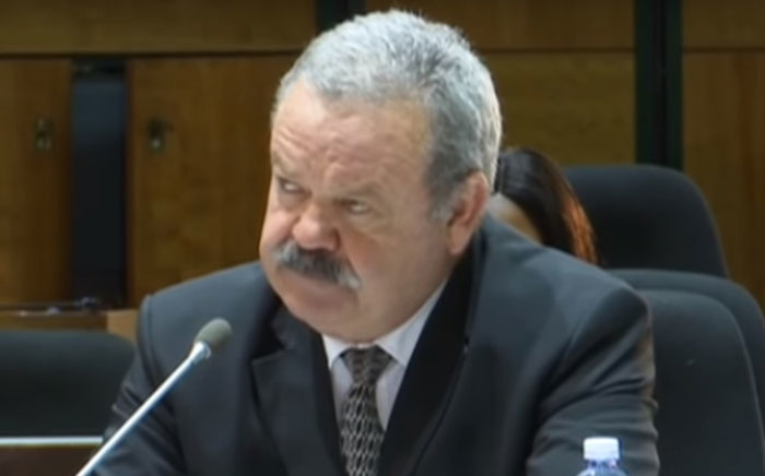 A screengrab of Advocate Jannie Lubbe at the PIC Commission on 25 June 2019.