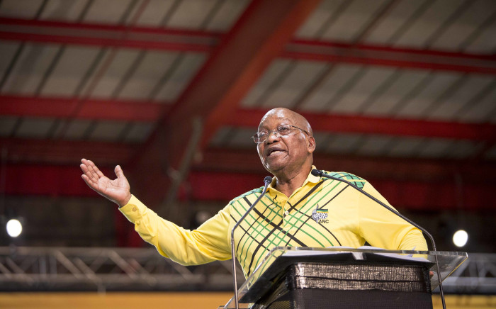 President Jacob Zuma addresses delegates at the ANC's 54th national conference at Nasrec on 16 December 2017. Picture: Thomas Holder/EWN