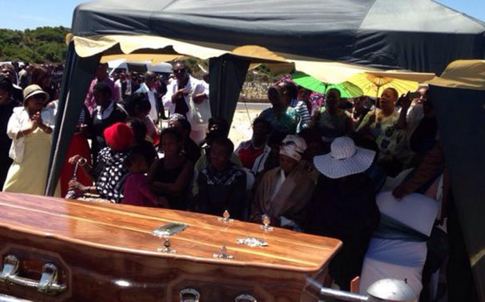 Xolile Mngeni who is one of three men convicted of murdering Anni Dewani was laid to rest today at Khayelitsha cemetery. Picture: Lauren Isaacs.