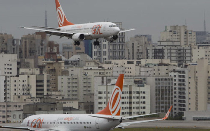 Brazil's busiest airport in Sao Paulo is still racing to finish a new terminal ahead of the World Cup. Picture: AFP.
