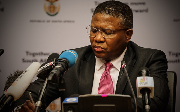 Sports Minister Fikile Mbalula fields questions about Fifa at Parliament. Picture: Thomas Holder/EWN.