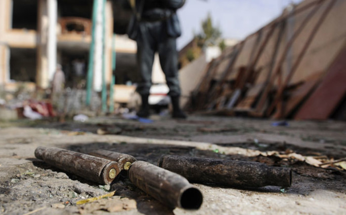 Empty bullet shells lying at the scene a day after an attack by Taliban militants on foreign aid workers, in Kabul, Afghanistan, on 30 November 2014. Picture: EPA.