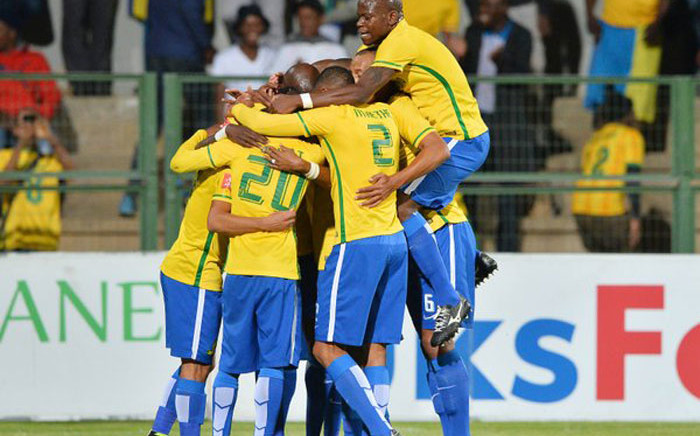 Mamelodi Sundowns players after winning the PSL on 4 May 2016. Picture: Twitter @OfficialPSL.