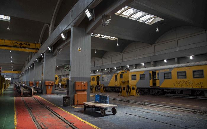 A view inside the Prasa repair depot on 28 May 2018, where trains are fixed, renovated and parts are shipped off for off-site repairs. Picture: Thomas Holder/EWN.