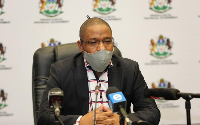 KZN Education MEC Kwazi Mshengu at a media briefing in Durban on 24 May 2020 on the province's response to the COVID-19 pandemic. Picture: @DBE_KZN/Twitter.