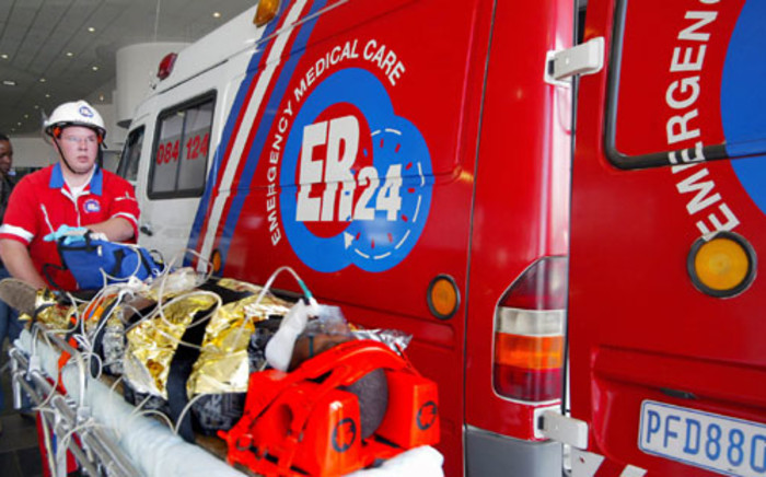 FILE: ER24 paramedics attend to a patient. Picture: Supplied