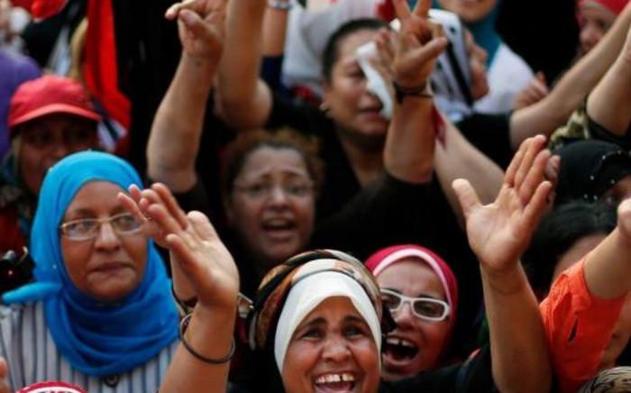 Egyptian anti-Morsi protestors. Picture: @ahmadj_1