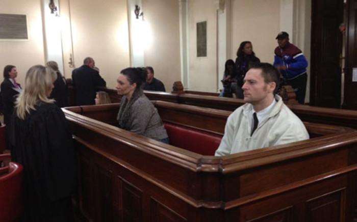 Baby Wade's parents Marissa Rudman and Nolan Schoeman in the North Gauteng High Court. Picture: Barry Bateman/EWN.