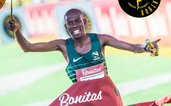 The 2019 men's Comrades Marathon winner Edward Mothibi. Picture: @ComradesRace/Twitter