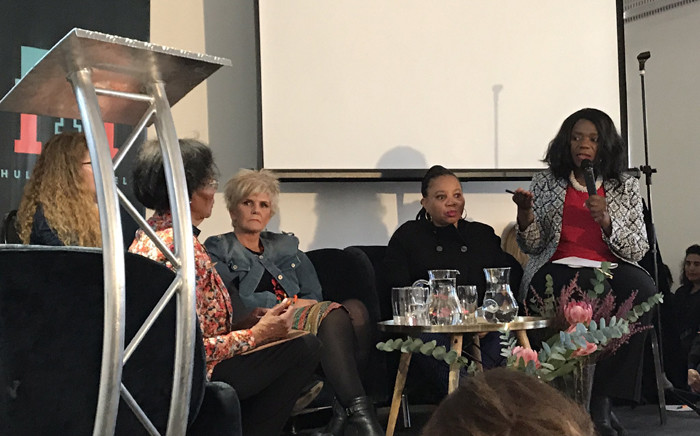 Advocate Thuli Madonsela speaking during a Women's Day dialogue held by her foundation at Constitution Hill on 9 August. Picture: Twitter/@ThumaFoundation.