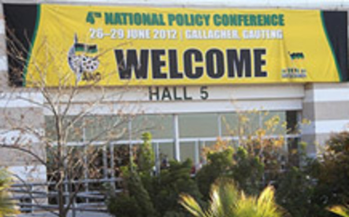 Signage for the ANC National Policy Conference 2012 at Gallagher Estate in Midrand. Picture: Taurai Maduna/EWN