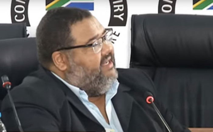 A screengrab of former Bain partner Athol Williams giving evidence at the state capture inquiry on 23 March 2021. Picture: SABC/YouTube