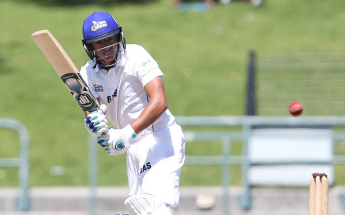 FILE: Cape Cobras batsman Zubayr Hamza. Picture: @Cobrascricket/Twitter