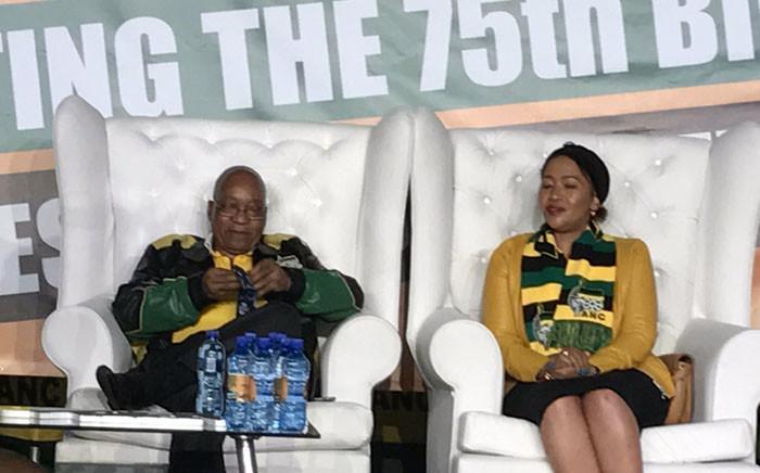 FILE: President Jacob Zuma and his wife Thobeka Madiba-Zuma in Soweto for his 75th birthday celebration. Picture: Clement Manyathela/EWN.