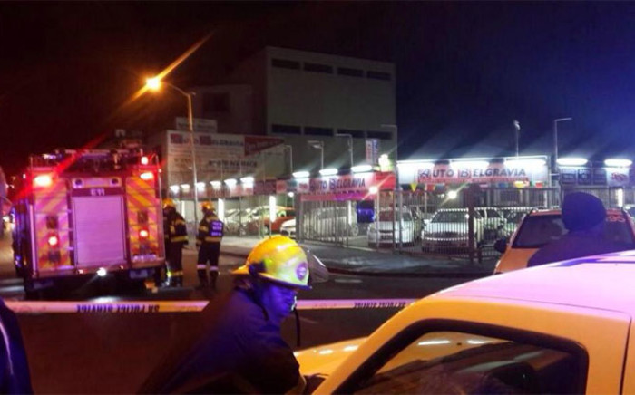 he City's fire and rescue services say it responded to a car which was on fire following an apparent explosion at a business in Athlone on 5 September 2014. Picture: @Nus_ismahero