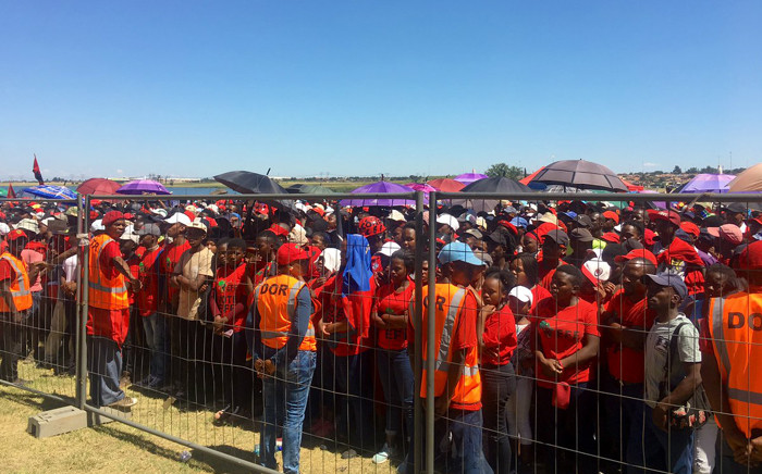 Hundreds of Economic Freedom Fighters members and supporters have gathered near the Dlomo Dam in Sharpeville 0n 21 March 2019 to commemorate Human Rights Day. Picture: Katleho Sekhotho/EWN