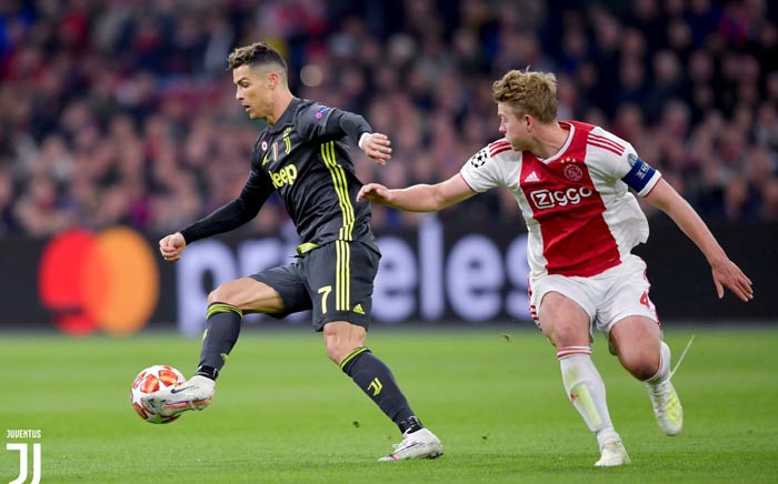 Juventus' Cristiano Ronaldo in action during his team's Champions League quarterfinal clash against Ajax. Picture: @juventusfcen/Twitter.