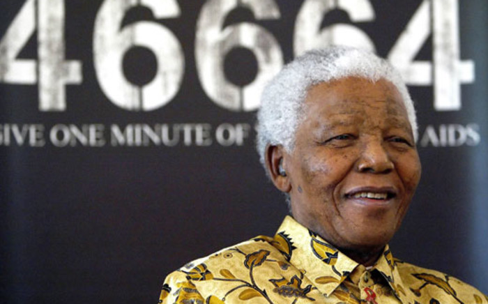 Former South African President and Nobel peace prize laureate Nelson Mandela. Picture:AFP
