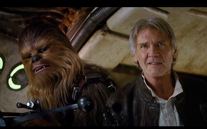 FILE: A new teaser trailer released on 16 April 2015 shows Star Wars' characters Han Solo and Chewbacca. Picture: Star Wars YouTube.