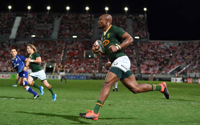 FILE:  South Africa took on Japan in the last of the quarterfinals at the Rugby World Cup. Picture: @Springboks/Twitter