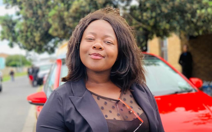 EFF member Sibongile Nkasayi was attacked with a baseball bat during a peaceful protest outside the Brackenfell High School. Picture: Supplied