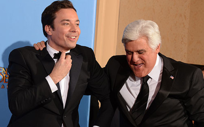 Jimmy Fallon (L) will take over from Jay Leno to host the popular The Tonight Show in 2014. Picture: AFP