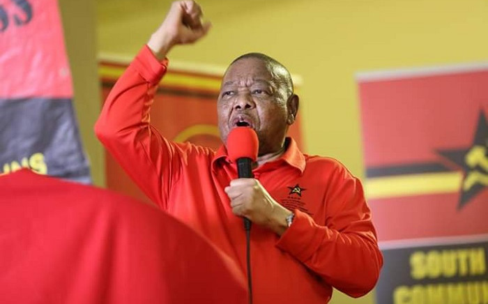SACP SG Blade Nzimande speaking at the launch of the party's 2019/2020 Red October campaign in the Eastern Cape on Sunday, 6 October 2019. Picture: @SACP1921/Twitter