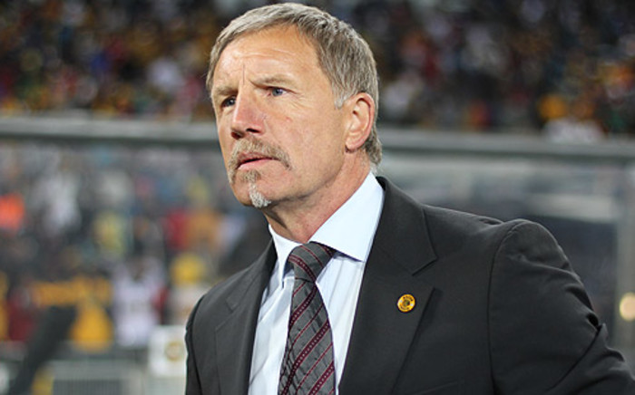 """‪Kaizer Chiefs ‬coach Stuart Baxter at the Carling Black Label Cup at FNB Stadium. Picture: Taurai Maduna/EWN"