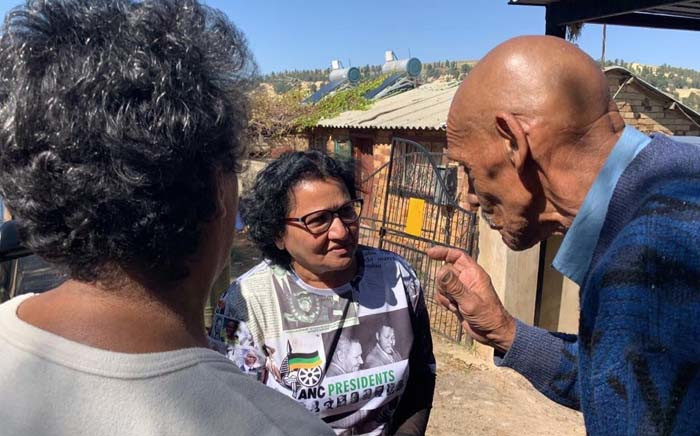 ANC deputy secretary Jessie Duarte speaks to Riverlea residents during a visit as part of the party's election campaigning on 1 May 2019. Picture: @MYANC/Twitter.