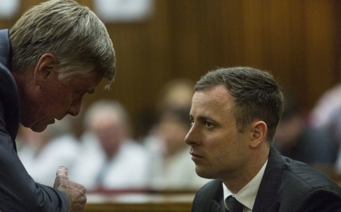 An emotional Oscar Pistorius. Picture: Pool.