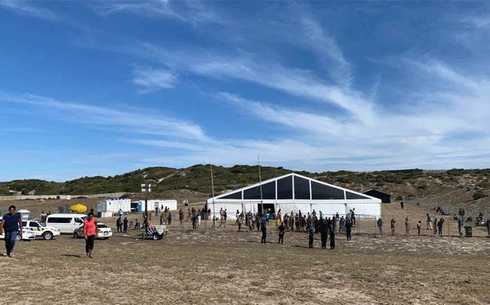 The Strandfontein site, in Cape Town, which is housing homeless people during the 21-day COVID-19 lockdown. Picture: Kaylynn Palm/EWN.