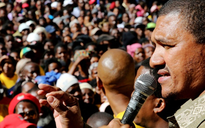 FILE: Western Cape ANC leader Marius Fransman is seen addressing protesters during a march against poor services and housing issues outside the Office of the Premier in Cape Town on Wednesday, 23 April 2014. Picture: Sapa.