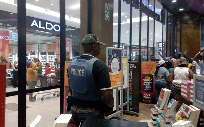 The launch of Pieter-Louis Myburgh's book 'Gangster State' has been disrupted at the Sandton City Mall. Picture: Bonga Dlulane/EWN