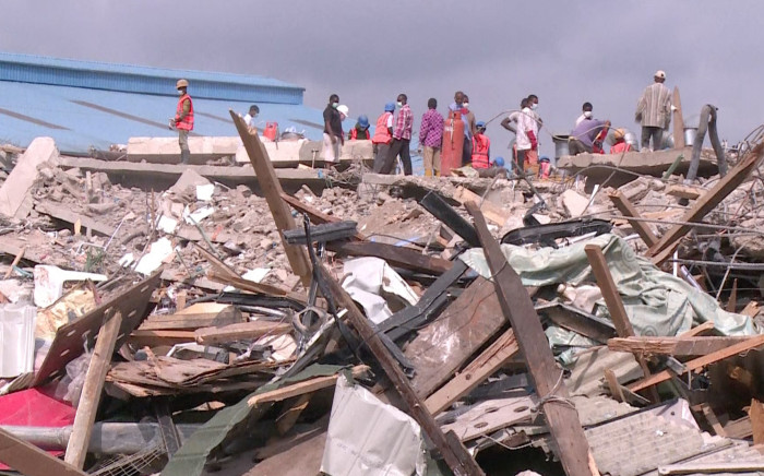 Rescue efforts are underway in Lagos, Nigeria where at least 67 South Africans have been killed after the collapse of a building belonging to the Synagogue Church of All Nations. Picture: AFP
