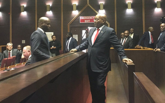 Jacob Zuma arrives at the Pietermaritzburg High Court on 27 July 2018. Picture: Ziyanda Ngcobo/EWN
