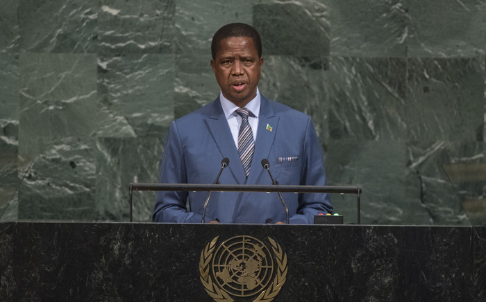 Zambian President Edgar Lungu. Picture: United Nations Photo.