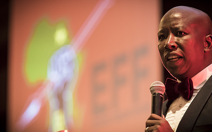Malema addressed a group of business people at a gala dinner in Polokwane about his intentions should the EFF win these local elections. Picture: Thomas Holder/EWN