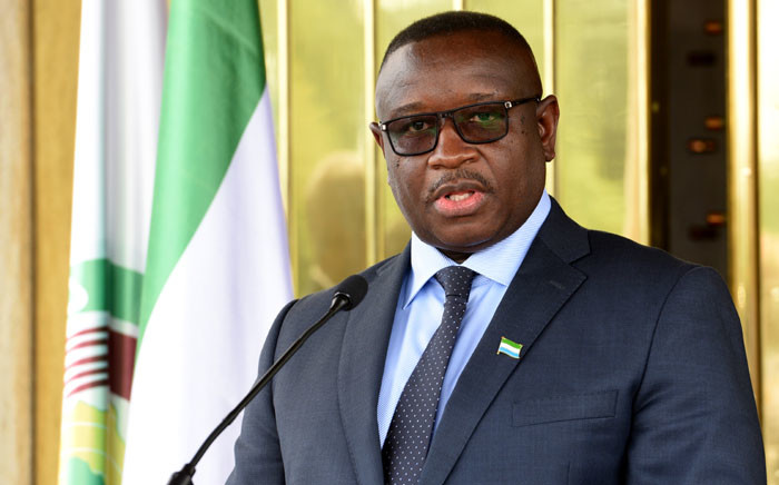 Sierra Leone president Julius Maada Bio attends a press conference after a meeting with Ivorian President on 4 May 2018 at the presidential palace in Abidjan. Picture: AFP