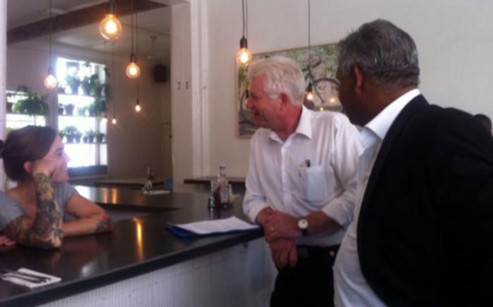 Western Cape Economic MEC Alan Winde visits small business on 15 January 2013. Picture: Carmel Loggenberg/EWN