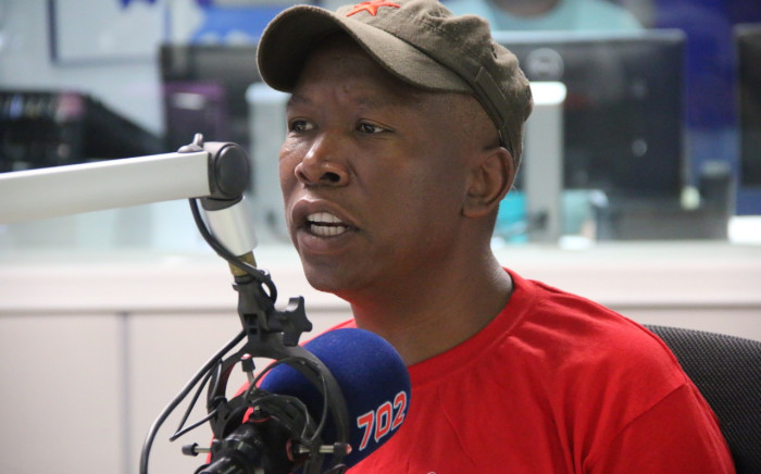 EFF leader Julius Malema in studio with Eusebius McKaiser on 18 April. Picture: Kayleen Morgan/EWN