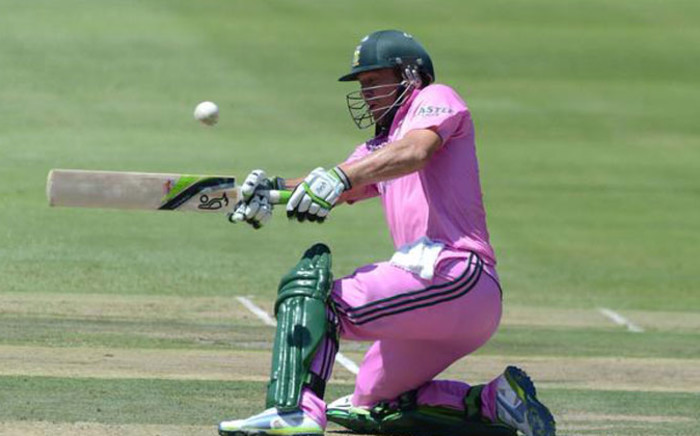 AB de Villiers scores the fastest hundred in the history of One Day International Cricket, 31 Balls. Picture: Twitter @ICC.