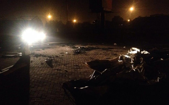 Three voting stations were torched in Bekkersdal overnight during protests that erupted. Picture: Govan Whittles/EWN.