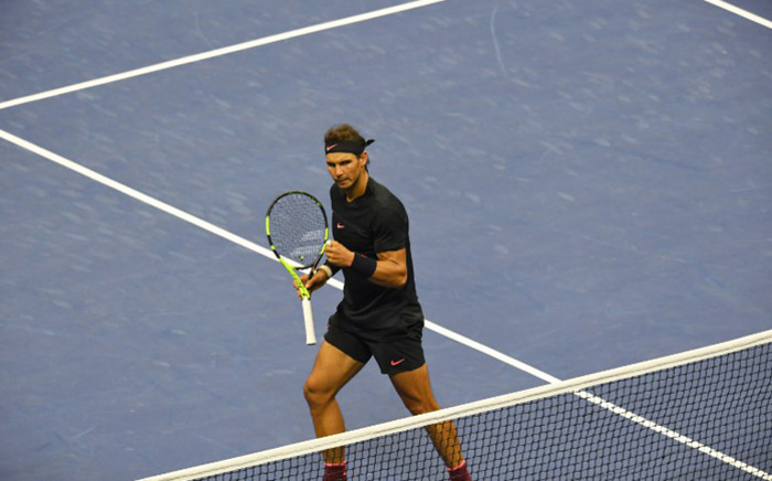Rafael Nadal of Spain celebrates a point against Juan Martin del Potro of Argentina during their 2017 US Open Men's Singles semifinals match at the USTA Billie Jean King National Tennis Center in New York on 8 September, 2017. Picture: AFP.
