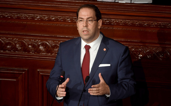 FILE: Tunisian Prime Minister Youssef Chahed. Picture: AFP.