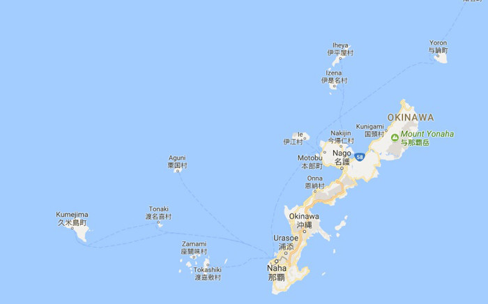 A view of Okinawa. Picture: Google Maps.