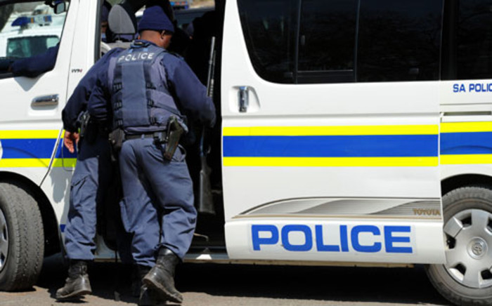 Police officers in Marikana. Picture: Sapa.