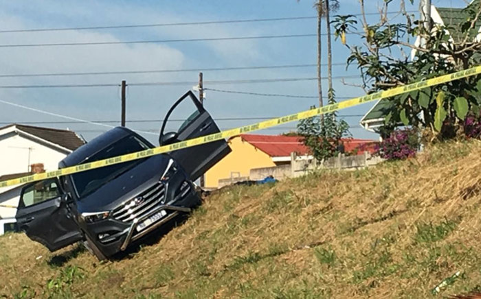 The scene of an attempted hijacking in Chatsworth on 28 May 2018. Picture: Ziyanda Ngcobo/EWN